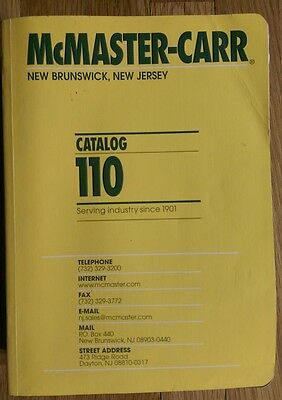 McMaster Carr Catalog New Jersey 110