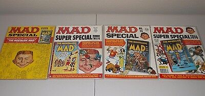 Mad Specials and Super Specials  (Lot of 4)   All with Mad Bonus Comic Inserts