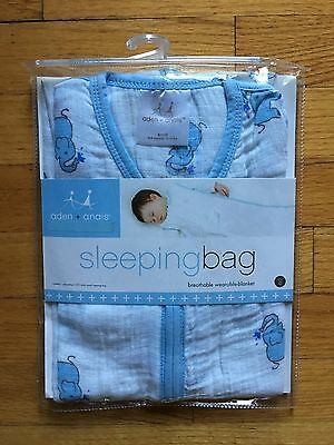 Aden + Anais Cozy Sleeping Bag for Baby Muslin Cotton NEW 0 - 6 Months Elephant