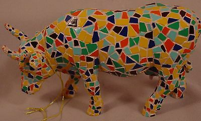 Cow Parade 2002 Item # 9143 Moozaic Westland Giftware Cow Figurine Tile Mosaic