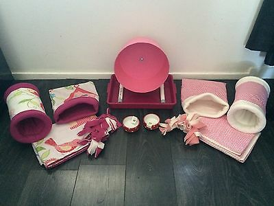 DT  Hedgehog Starter Set,wheel,tray,bowls,bed,tunnels,liners Blankets Or Worms