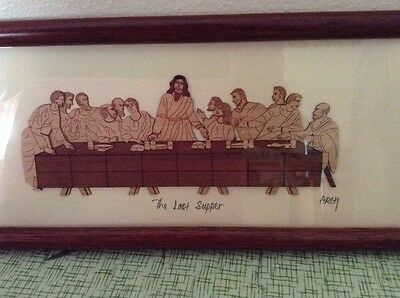 """BEAUTIFUL!  ARCH Collection """"The Last Supper"""" carved wood picture"""