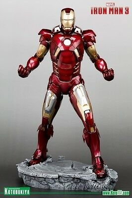 MARVEL IRON MAN 3 MOVIE IRON MAN MARK VII ARTFX STATUE By Kotobukiya ~BRAND NEW~
