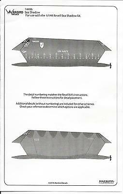 USN Experimental Stealth Ship, Sea Shadow Decal Upgrades 1/144 06, For Revell Kt
