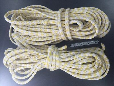 used set of two straightline rope boat tube towable towables 4,6 person 60,65 ft