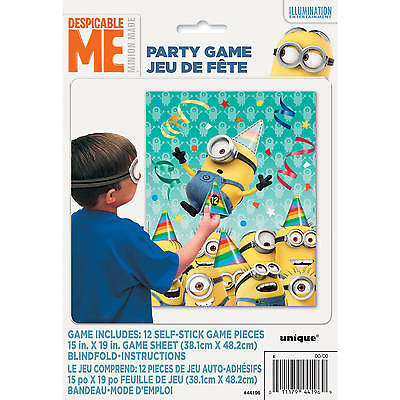 Minions Party Game Self Stick Hats Blindfold for 12