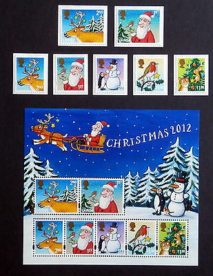 GB 2012 - Christmas Set of 7 + sheet of 7