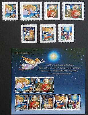 GB 2011 - Christmas  Set of 7 + sheet of 7