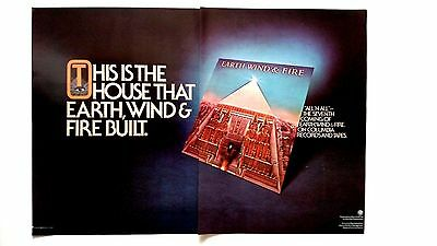 The House That Earth,wind & Fire Built. '77 Rare Original Print Promo Poster Ad