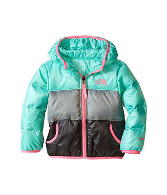 The North Face Toddler Girls Reversible Moondoggy Jacket Csb1Bdm Surf Green Us