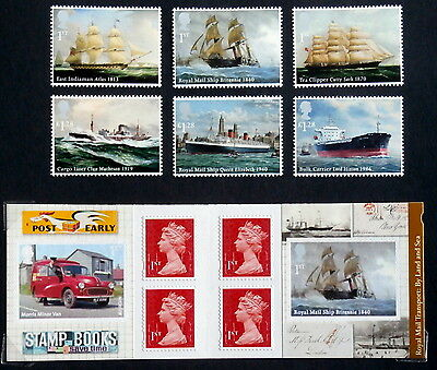 GB 2013 - World War II and Arctic Conveys, Set of 6, sheet of 4, booklet of 6