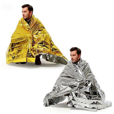 Outdoor Survival Emergency Mylar Waterproof Sleeping Bag Foil Blanket Survival