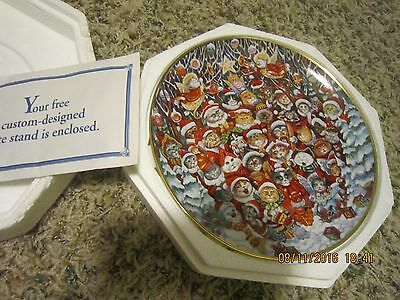 Bill Bell Cat Plate Santa Claws Holiday Cats Collection Franklin Mint