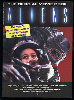 Aliens (1986) Official Movie Book 1st Print Sigourney Weaver W/ 4 Posters VF/NM