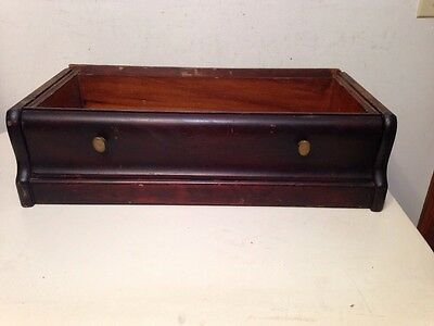 Antique 3/4 Width Barrister Bookcase Base With Drawer Globe Macey Era