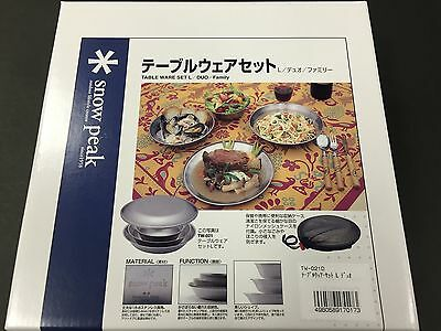 Snow Peak Table Wear Set L Family TW-021F from Japan w/ Tracking Camping & Outdoor