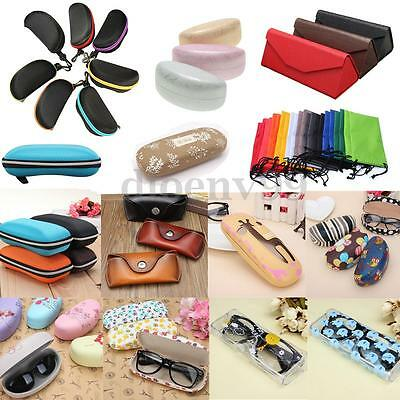 Zipper Hard Eye Glasses Holder Sunglasses Case Eyewear Protector Various Box Bag