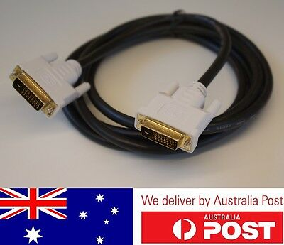 2M DVI-D 24+1 To DVI-D 24+1 Male To Male Cable For LCD Monitor PC HDTV Laptop