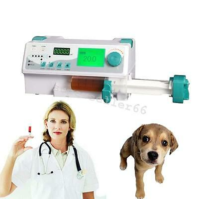 Animal Veterinary vet Pet Injection Infusion Syringe Pump Alarm KVO+Drug library