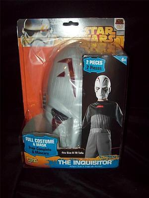 Disney Star Wars The Inquisitor Full Costume Mask 8-10 Halloween Play Comic-Con