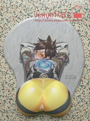 OTG Overwatch Mousepad Tracer 3D Hip Silicone Soft Play mice OW Mat Wrist Rest