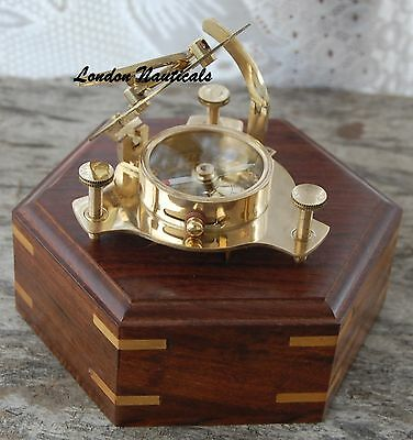 Nautical Collectible Compass Brass Pocket Vintage West London Maritime Sundial