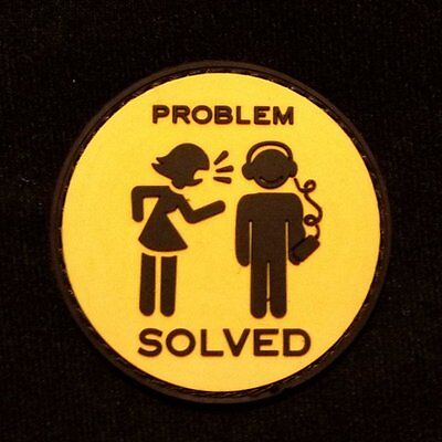 Problem Solved - Velcro Patch airsoft military milsim tactical morale badge