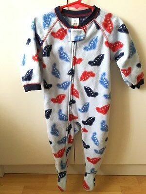 Baby Boy Toddler Winter Fleece Jumpsuit, Romper, Bodysuit - Size 1