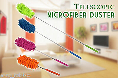 Microfiber Duster Extra Long Telescopic Cleaner Cloth Metal Office Car Caravan A