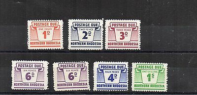 Northern Rhodesia 1963 Postage Due set to 1s MH