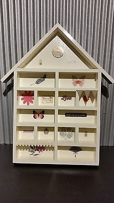 White House Shadow Box - Shabby Chic/French Provincial/Rustic - Wall Mounted