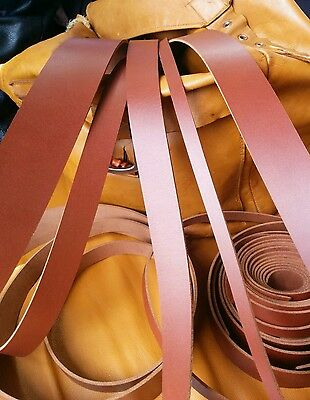"""Leather Strap Dark Tan / Brown 3mm Leather Craft 50"""" long belt making Any width"""