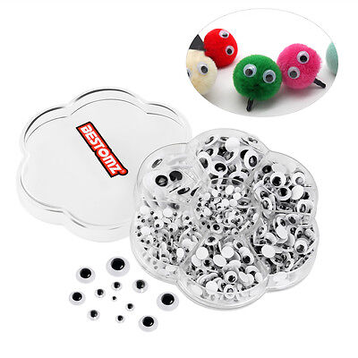 700 Pieces Wiggle Googly Eyes Self-adhesive DIY Scrapbooking Crafts Toy Assorted
