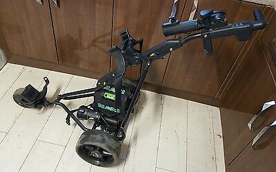 Powakaddy electric golf trolley with battery  wide wheels