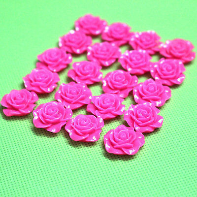 10PCS Resin Rose Flower For Wedding Accessories Craft DIY 19MM
