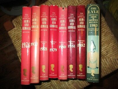 Set Of 8 Lyles Arms & Armour Annual Reviews 1976-83