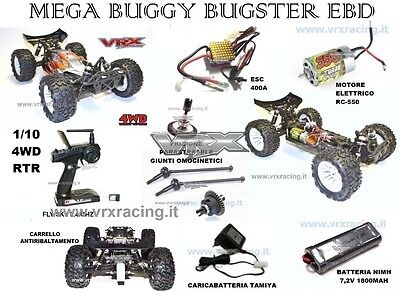 AUTO RC VRX CODICE RH1031 MEGA BUGGY BUGSTER 1/10 BRUSHED RC550 2.4GHz RTR