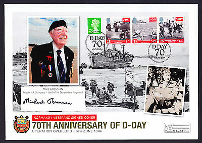 2014 GB 70th D Day Signed Cover Normandy Private 1st Bn The Dorsetshire Regiment