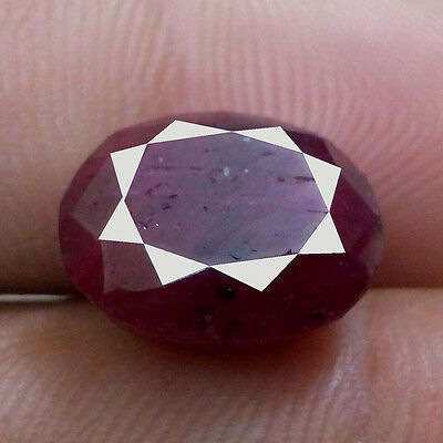8.45 Ct 100% Natural  Red Ruby Faceted Oval Shape Gemstone
