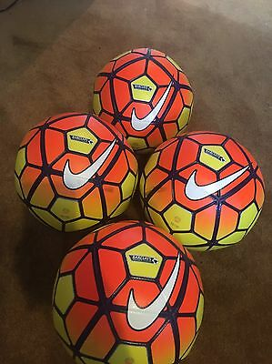 Set Of 4 Nike Ordem 2 Premier League Official Matchballs, Immaculate