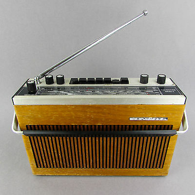 Tandberg Portable 41 Vintage Radio Working 1970 Norway Wood