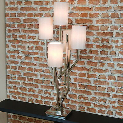 RV Astley Aregno Chrome Statement Table Lamp, Contemporary, Luxury -  Ex Display