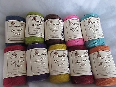 20m Colour Jute Twine Everlasto Brand for gifts/cardmaking/weddings