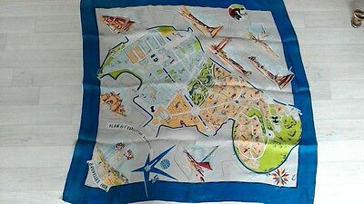 Rare 1958 Brussels Exposition Universal  Vintage Scarf Depose