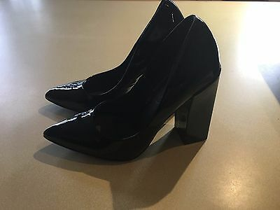 Black Patent Schuh Size 38 High Heels Shoes