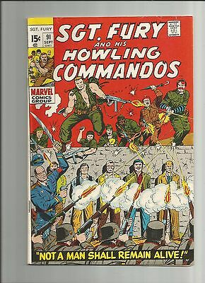Sgt. Fury And His Howling Commandos #91 Nice!! F