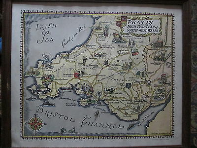 Pratts High test plan of South - West Wales 1930 Frank G Jefferies colour litho