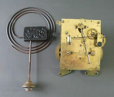 Vintage Junghans mantel clock movement and chime for repair or spares