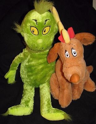 How the Grinch Stole Christmas Plush Lot - Max & Grinch Kohl's Cares Plush NWOT