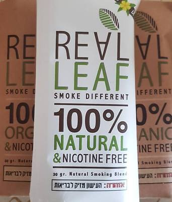 Real Leaf Organic & Tobacco Free Herbal Smoking +GREENGO+Diamina FREE Nicotine